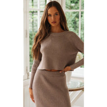 Load image into Gallery viewer, Amber Knit Skirt - Dark Apricot
