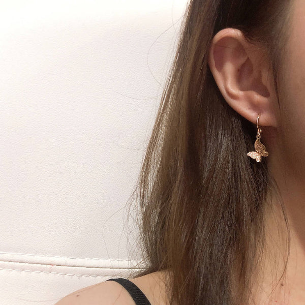 Sparkling Butterfly Ear Ring
