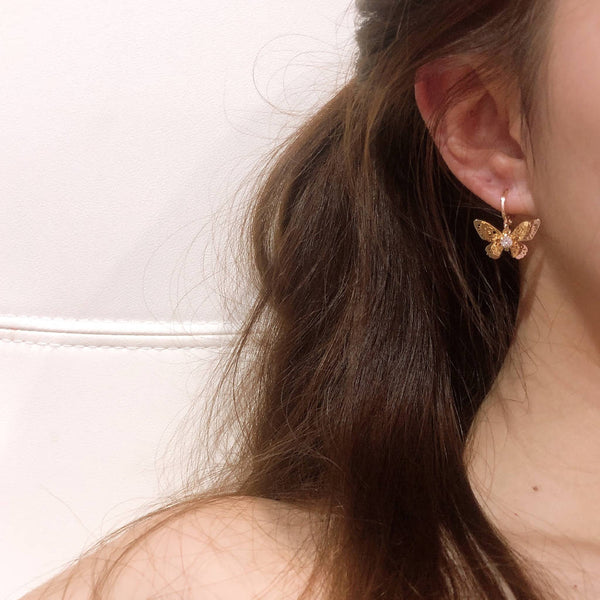 Sun Gazing Butterfly Ear Ring