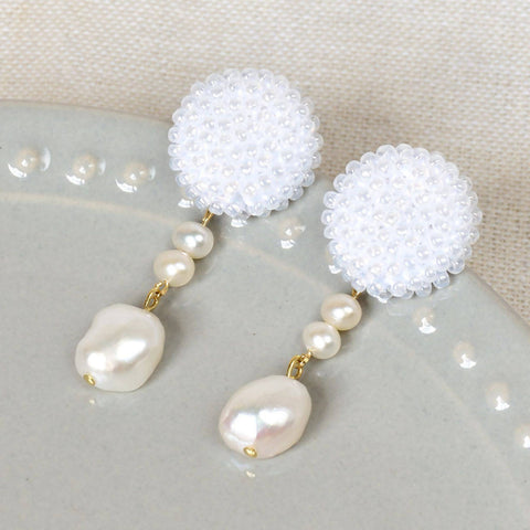 Calypso Dangle Earrings in White
