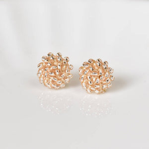 Champagne Pink Stud Earrings