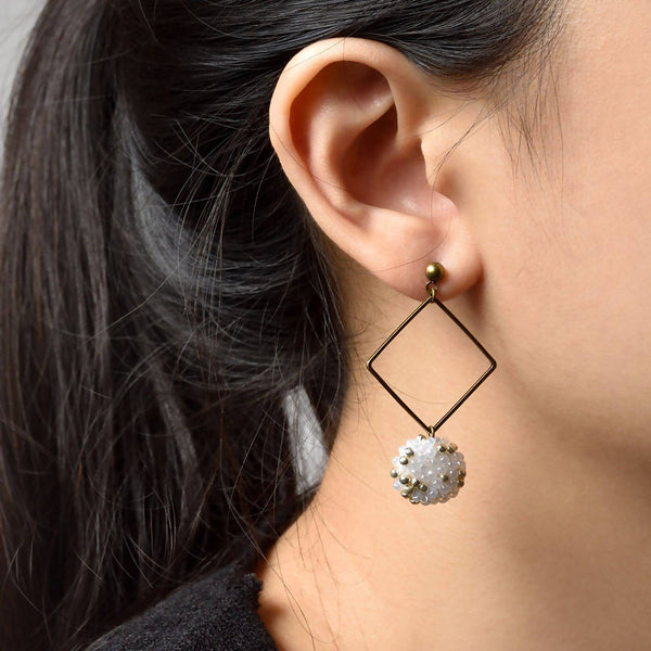 Merida Square Dangle Hoop Earrings