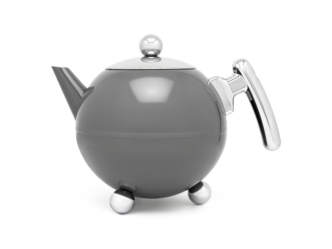 41 fl oz Teapot SS Cool Grey BELLA RONDE