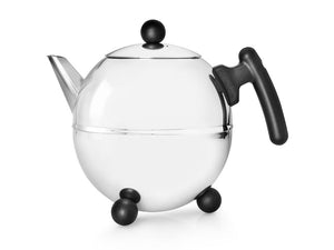 51 fl oz Teapot Black Fittings/SS BELLA RONDE