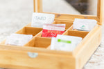 Load image into Gallery viewer, 9 Compartment Tea Box with Window Bamboo