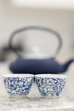 Load image into Gallery viewer, Cups Yantai Blue Set of 2