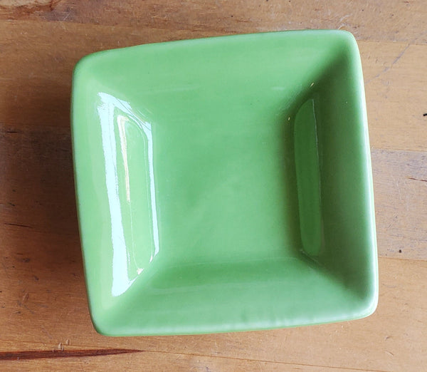 Small Square Bowl Light Green Single
