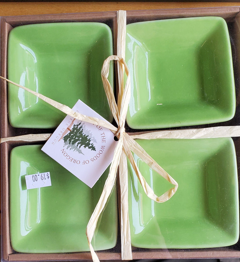 Small Square Bowls Light Green Set