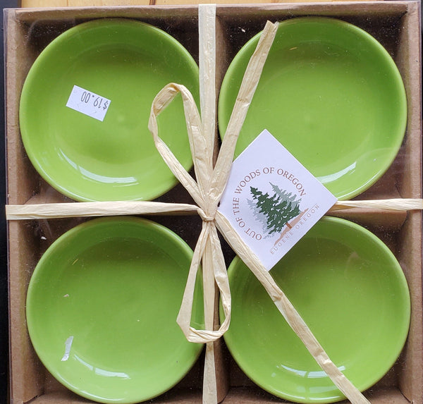 Small Round Bowls Light Green Set