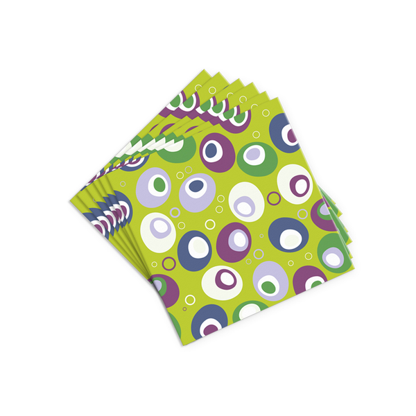 Cocktail Napkins - Festive Olives - Green