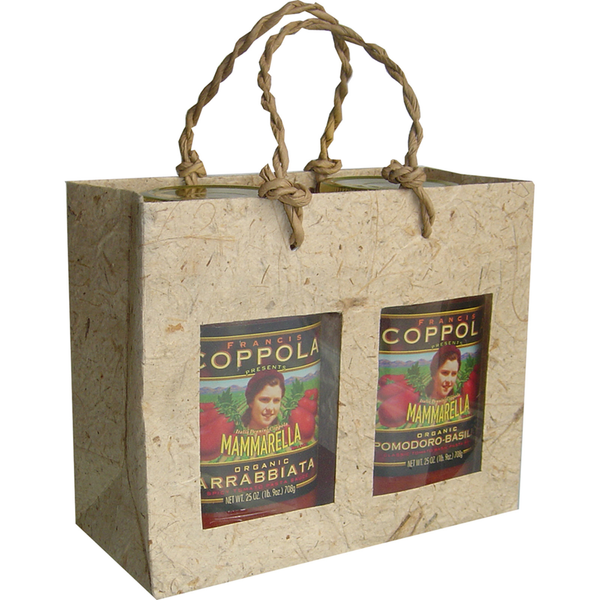 Gift Bag - Two Jar - Handmade Paper - Natural