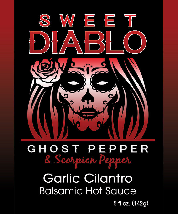 Sweet Diablo Garlic Cilantro Balsamic Hot Sauce