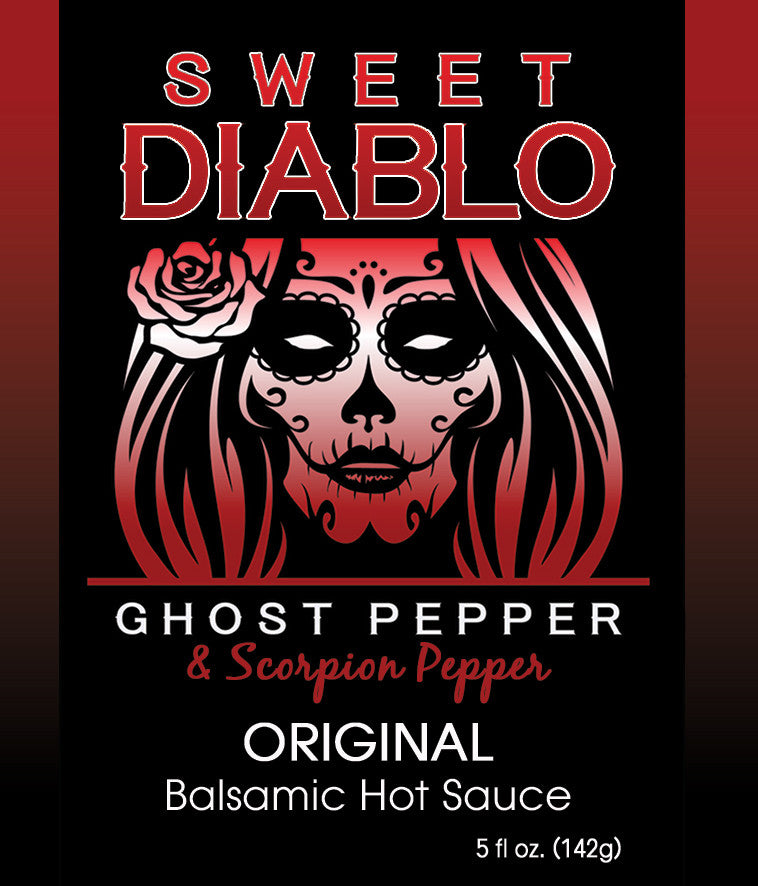 Sweet Diablo ORIGINAL Ghost Pepper with Scorpion Pepper Balsamic Hot Sauce