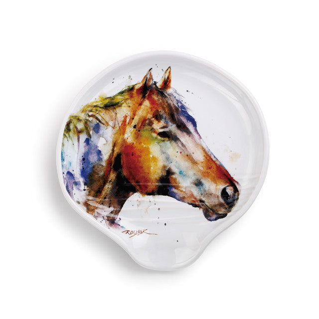 Horse face spoon rest