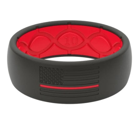 Groove Ring Protector - Fire Red