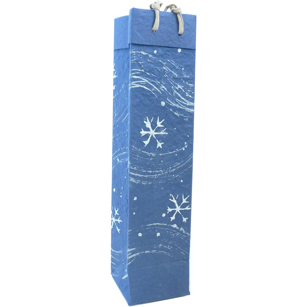 Christmas Gift Bag - Blue Snow Flurries