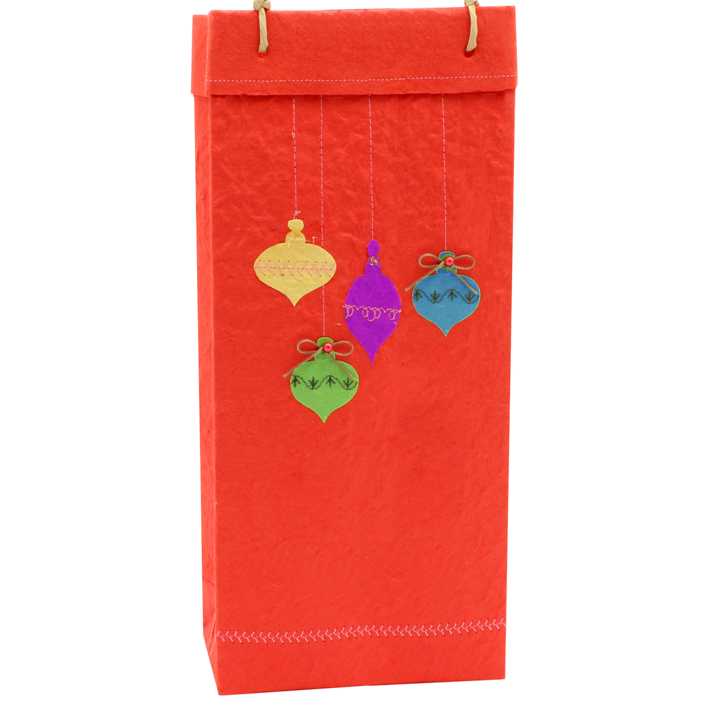 Christmas Gift Bag - Ornaments - Double Bottle
