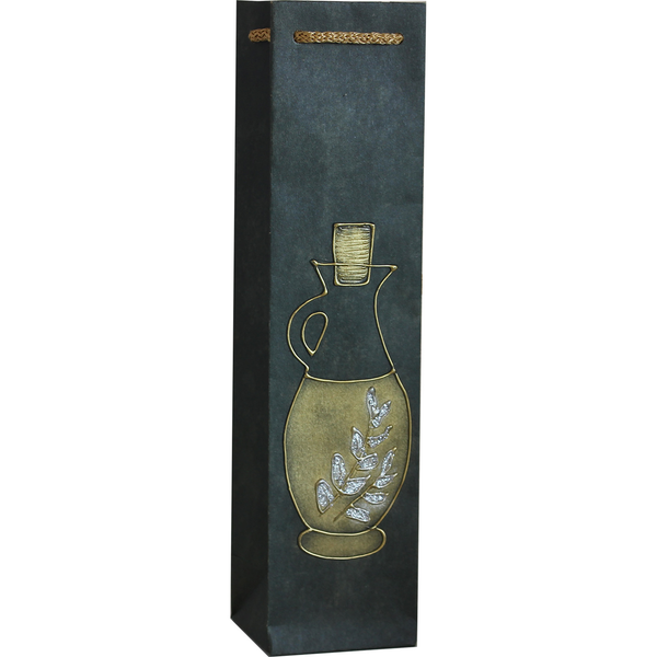 Gift Bag - Green with Gold & Silver Carafe