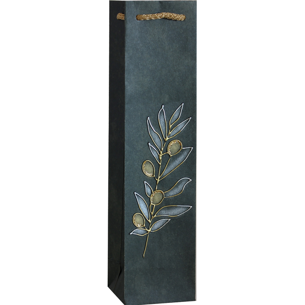 Gift Bag - Green with Silver & Gold Vine