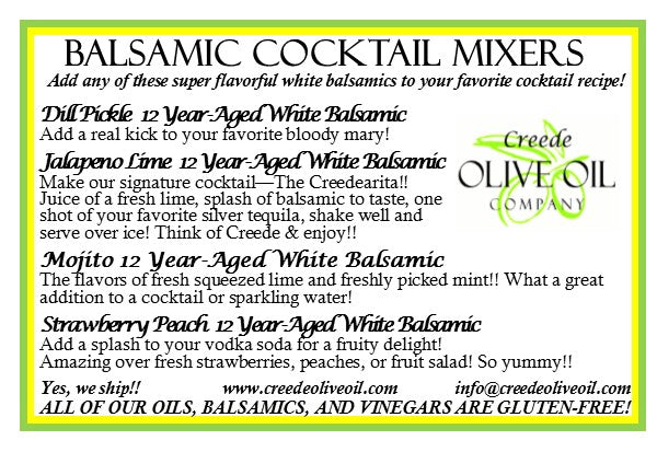 Sampler Boxed Gift Set - Balsamic Cocktail Mixers 2020 - 4 Small Bottles with Gift Box