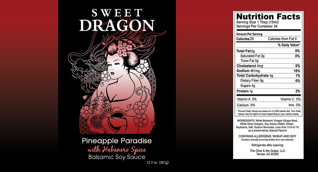 Sweet Dragon Balsamic Soy Sauce - Pineapple Habanero 12 oz.