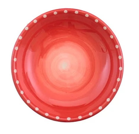 Round Dip Bowl - Red Dots
