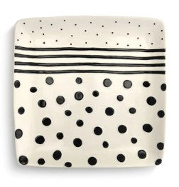 Dots and Stripes Platter