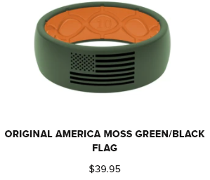 Groove Ring Hero Americn Moss Green & Orange with Black Flag