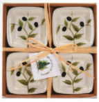Small Square Bowls Olives Set