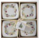 Small Square Bowls Olive Wreath Set