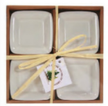Small Square Bowls White Set