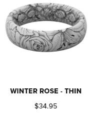 groove Ring Thin Winter Rose
