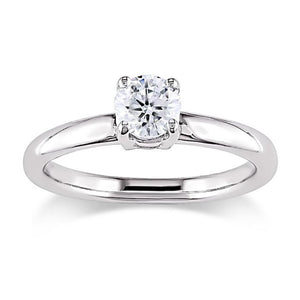 Solitaire engagement ring (4 claw) Platinum 950 with natural 0.50 carat Diamond - G&S Diamonds