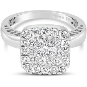 7 CARAT LOOK CUSHION CUT DIAMOND CLUSTER RING WITH OVER 1 CARAT OF HIGH QUALITY DIAMONDS - G&S Diamonds
