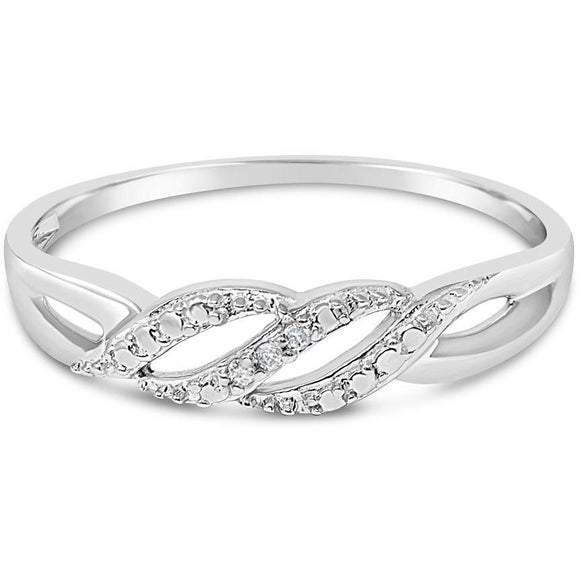 WHITE GOLD RING FOR WOMEN WITH DIAMONDS - G&S Diamonds