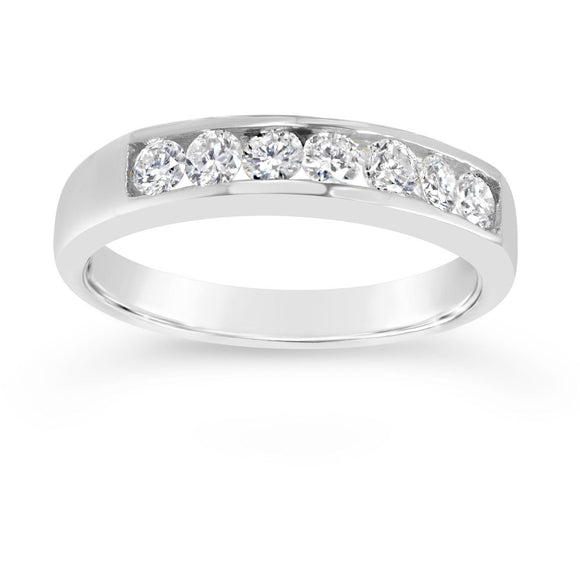 Eternity ring for women in White gold with premium quality diamonds over 0.40ct