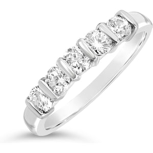 Eternity Ring With 1/2 Carat Total Of Big Bright White Diamonds