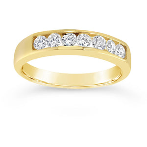 Premium quality yellow gold diamond eternity ring