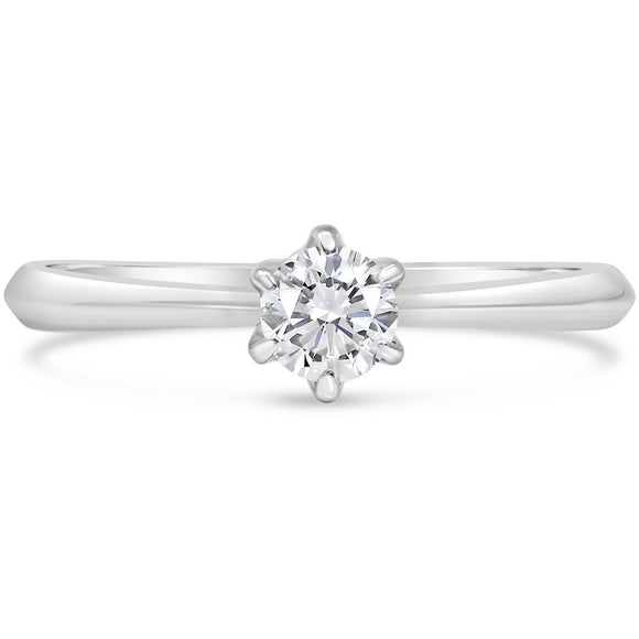 PLATINUM DIAMOND SOLITAIRE RING FOR WOMEN - G&S Diamonds