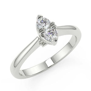 Marquise Shape Diamond Ring in White Gold