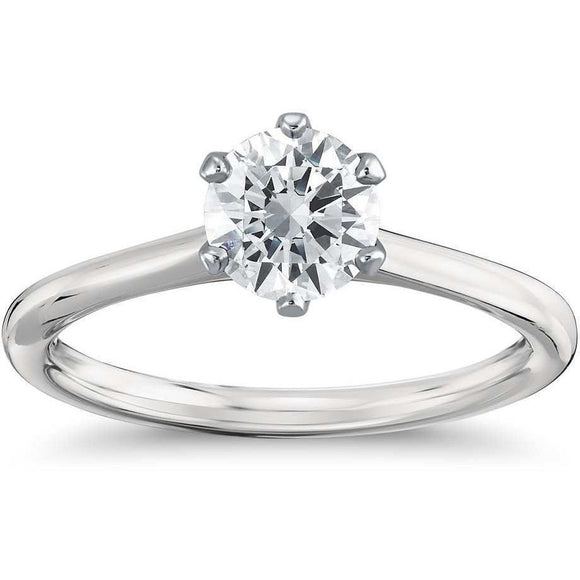 ENGAGEMENT RING FOR WOMEN WITH 1/2 CARAT SOLITAIRE DIAMOND - G&S Diamonds