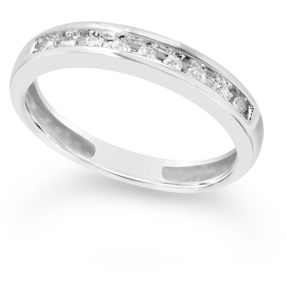 Eternity Ring in White Gold Ring with Channel of Stunning Natural Diamonds