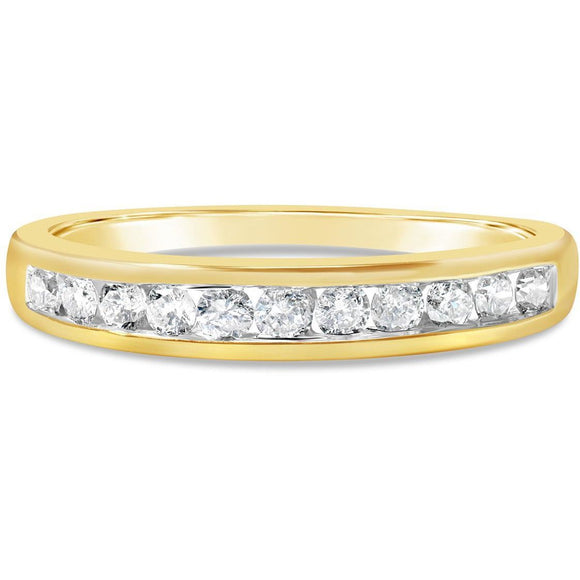 Yellow Gold Eternity Ring For Women With 1/4 Carat Of Premium Quality Diamonds