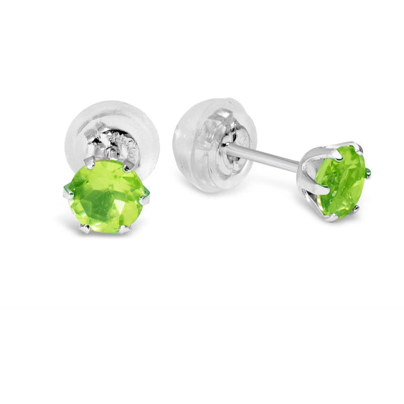 Peridot Earrings in Platinum