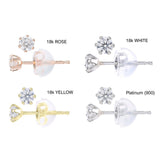 DIAMOND EARRINGS FOR WOMEN CHOICE OF 18CT WHITE GOLD, YELLOW GOLD ROSE GOLD OR PLATINUM - DIAMONDS CERTIFIED CONFLICT FREE AND NATURAL - G&S Diamonds