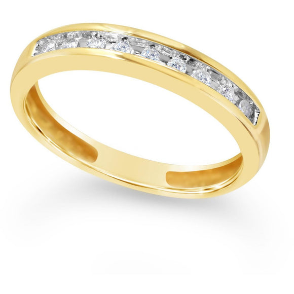 Affordable Diamond Eternity Ring in Yellow Gold Ring with Channel of Stunning Natural Diamonds