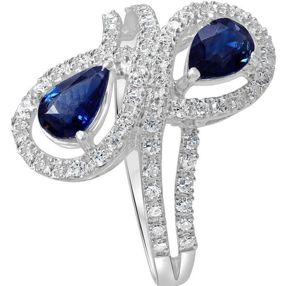 Two stone Sapphire and Diamond ring