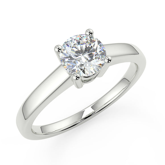 Platinum  Engagement Ring - Solitaire with 1/2 carat premium quality diamond