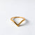 Golden Chevron Ring