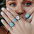 Larimar River Drop Ring
